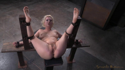 Pale Skinned Busty Blonde Cherry Torn Restrained Fuck Me Position Used Hard Big Dick (2015)