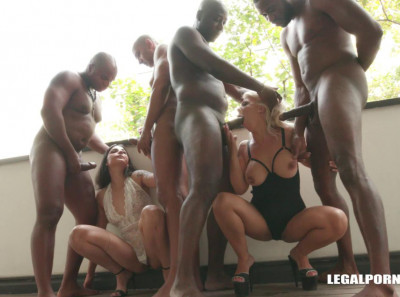 Kinky Interracial Orgy With Double Fuck