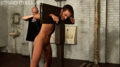 Sergei – Trapped in the stocks, flogged and made to suck cock
