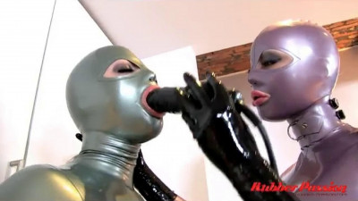 Bondage, domination and torture for two hot girls in latex part 1