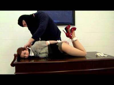 Secretary Bound and Interrogated (english, bondage, watch).