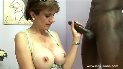Lady Sonia - Huge Nipples Sprayed Hard