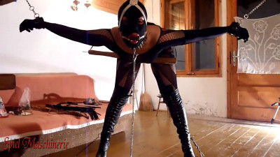 Hard bondage, torture and domination for very horny slave girl FullHD 1080p