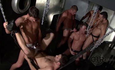 Description Darkest orgy with muscle males