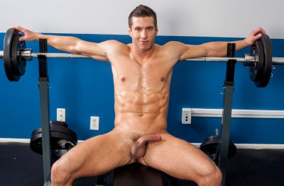 Description Alec Hudson goes straight to pumping his cock