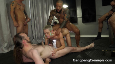 Sexy Sidra Sage Enjoys First GangBang Party With 5 Creampies