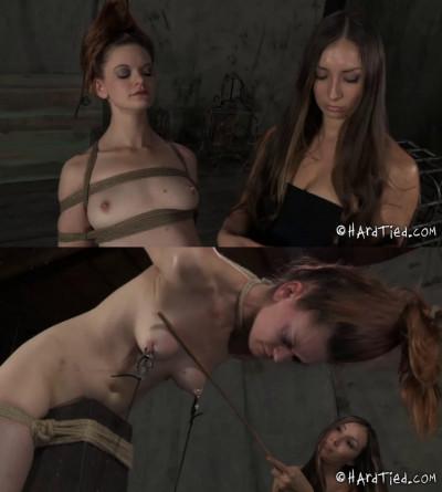 Bondage, spanking, strappado and torture for naked slut part 2