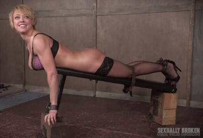 Non-stop bondage anal with brutal face fucking for sexy milf