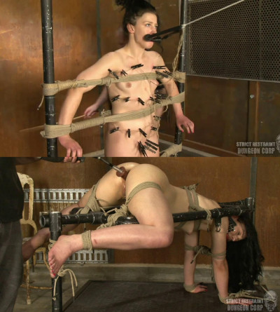 Tight bondage, torture and strappado for very hot naked slut