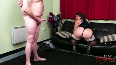 big ass milf in lingerie teasing small dick man