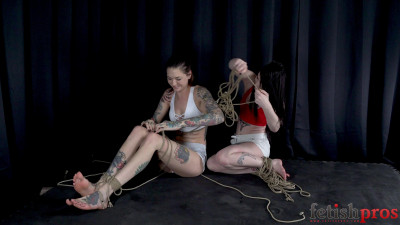 Rope Bondage Hogtied And Barefoot Escape Challenge