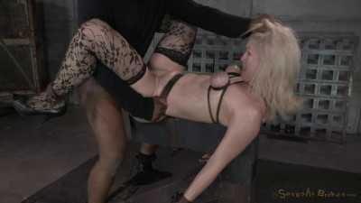 Description Beautiful blonde Ella Nova bound, dildoed and deepthroated on BBC!