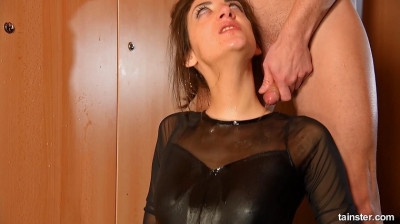A golden shower in the lady's dressing room