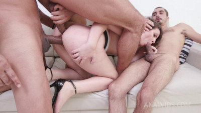 First time double penetration for brazilian Lady Snow