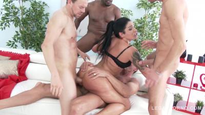 Monica Santiago loves rough anal gangbang with DP