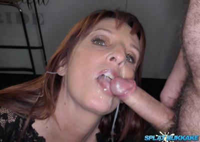 Sexy MILF Beau enjoys her first bukkake