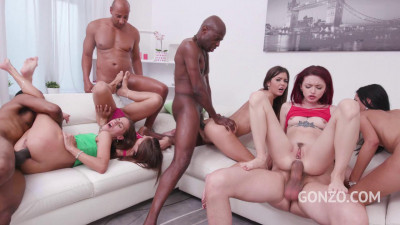 5on5 0% pussy orgy with foot fetish, featuring the Return of Kuckmal — HD 720p