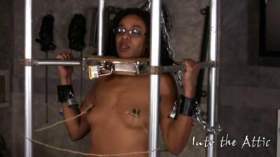 Hard bondage, hogtie and torture for horny beautiful ebony HD 1080p