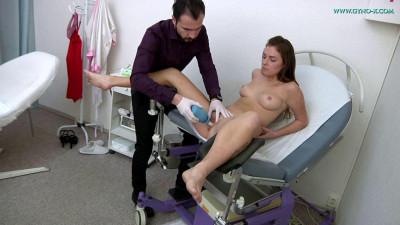 Description Mila Fox(23 years girl gyno exam)