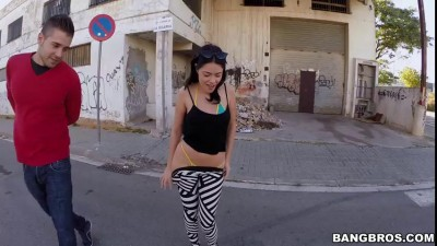 Hot latina fucked in the street