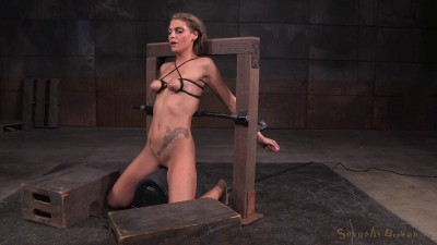Tan Stevie Smith Shackled To Sybian In Breast Bondage Facefucked Into A Drooling Mess (2015)