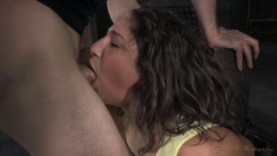 Flexible cock slut Abella Danger bound multiple orgasms