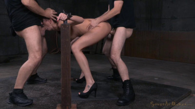 Bianca Breeze Bound In Metal Shackles And Used Hard, Rough Sex And Brutal Deepthroat