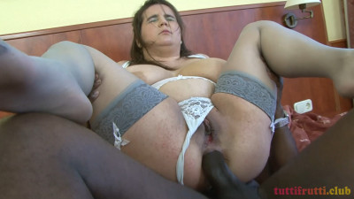 Big tits Euro BBW Deborah interracial anal