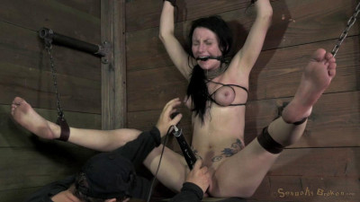 Veruca James shackled and chained