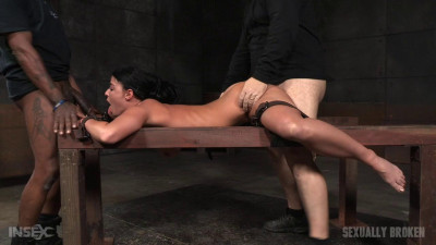 Flexible London River bound and split in half by giant cock with many orgasms