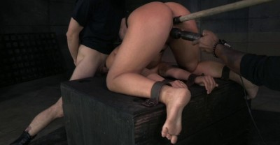 Abella Shackled And Roughly Fucked With Brutal Drooling Deepthroat!