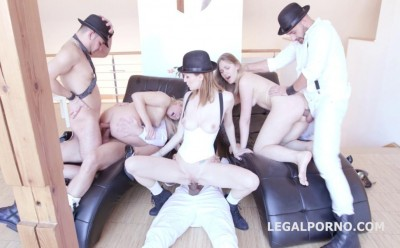 Work DP Gangbang With Black Hats