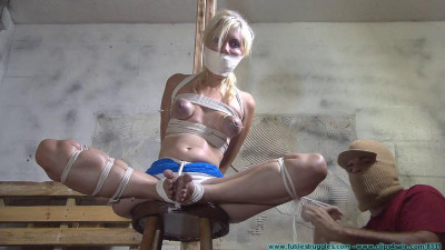 He Binds, Manhandles, and Torments his Blonde Blue Eyed Captive – Part 1