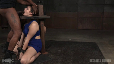 Drooling and destroyed girl next door facefucked