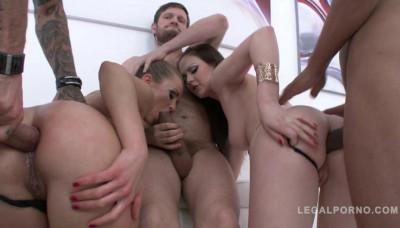 Brutal orgy with hot slut