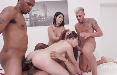Luna Rival dominated by Lady Dee & gangbanged by huge dicks