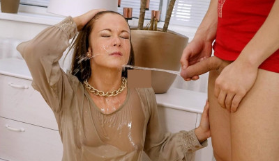 Angella Christin - Lingerie Lust Gets It Going And Piss Seals The Deal! (sex, getting, show).