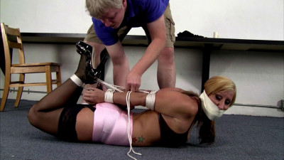 High Heels And Tight Bondage And Tape Gags part 1