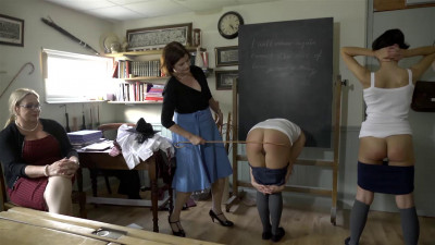 Spanking Bellington Academy - Scene 4 - Mary, Maureen and Diana - Full HD 1080p