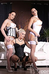 Wendy Moon, Blanche Bradburry, Mea Melone — FemDom Paradise Three Glamour Dominas Humiliate Guy