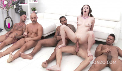 Beauty Slut Casey Calvert Loves Double Anal Orgy With 10 Men