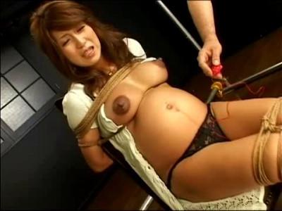 4 Hours Pregnant Woman Masochist Torture Part 1