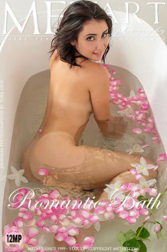 Quilted, Romantic Bath, Jean Skirt, Sweet Peach