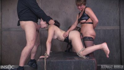 Description RTimeBondage - Yhivi Tied to Box and Fucked From Both Ends By Couple