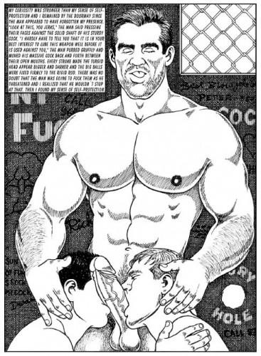 Muscular strong hairy men