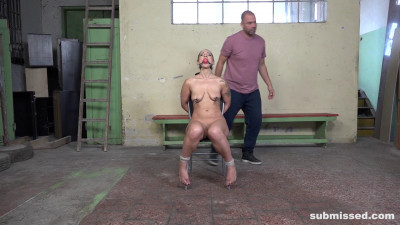 Struggling Laura tied up and whipped HD