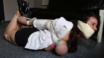 Tight Bondage, Hogtie And Sex-game For Two Sexy Girls