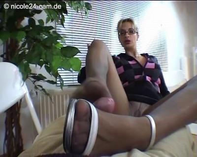 Nicole24 Footjob and Foot licking part 9