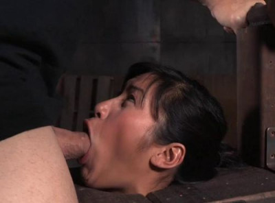 Description Busty Asian Mia Li Shackled To Sybian And Throatboarded