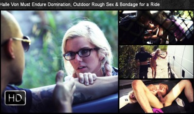 SexualDisgrace - Oct 01, 2014 - Halle Von Must Endure Domination, Outdoor Rough Sex